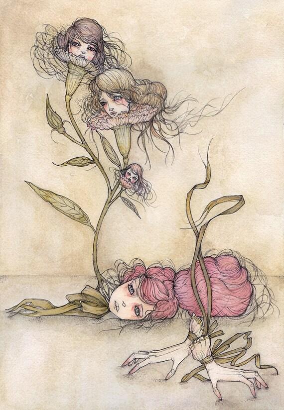 ORIGINAL Painting - Dianthus