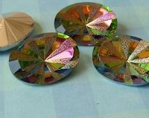 Glass Jewels -  18x13mm Oval Medium Vitrail Jewels (54-14B-2)
