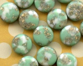24 Vintage Plastic 24 Italian 10mm Acrylic Beads (8-15-24)