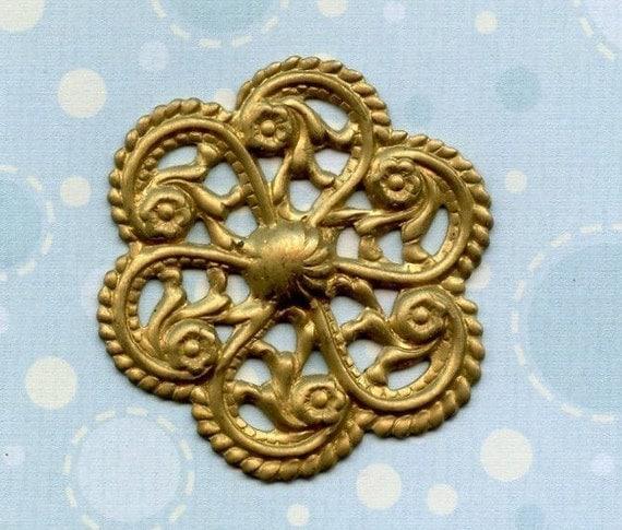 Vintage Stamping Brass Pinwheel (9-1B-1)
