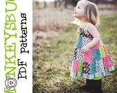 Patchwork Knot Twirl Dress PDF eBook Pattern INSTANT DOWNLOAD