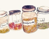 Four Ingredients Jars - Print (A4)
