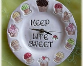Cupcakes clock Cupcakes  home decor Keep Life Sweet