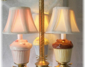 Cupcake Chandelier in Gold