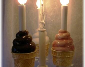 Ice Cream Cone Chandelier