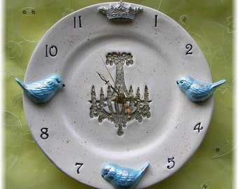 """Royal clock with BIRDS 10"""" round"""