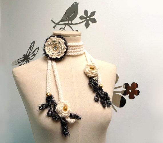 PEONY - scarflette/lariat