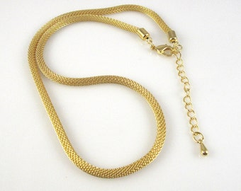 Mesh Necklace SALE, Gold Plate, 16 - 18 Inch, Flexible