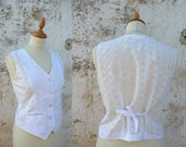 Reserverd reserverd reserverd  1980 eyelet vest blouse size S