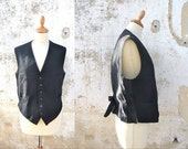 Vintage 1900s /1930s french men vest size L