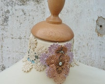 Lace Chocker romantic handmade watercolors lace and ribbons
