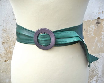 1970s dark green wrapped belt