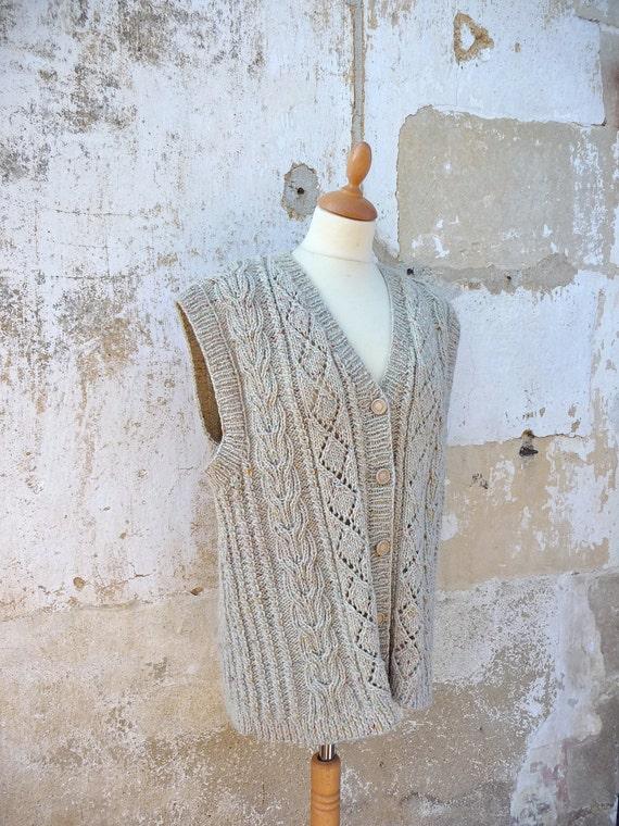 1970s handmade irish sweater vest size S/M/L