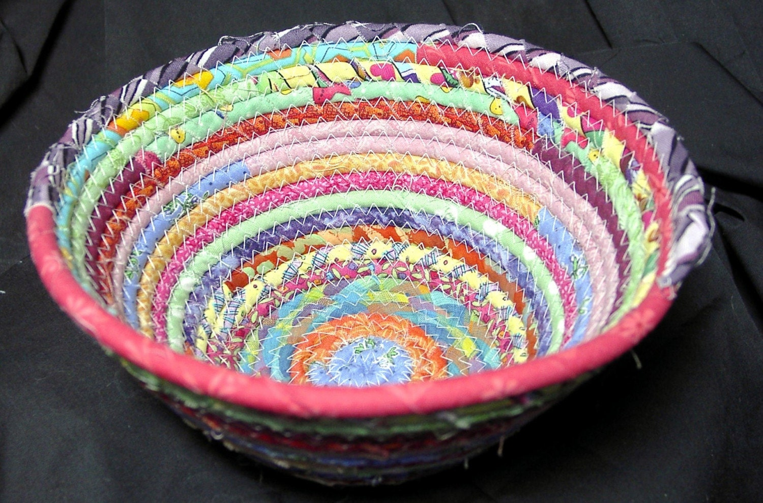 How To Weave A Basket From Fabric : Soft woven fabric basket