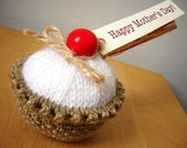 White knitted cake - Happy Mother's Day