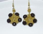 sexy black in gold earrings