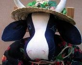 Maude the Cow - a Vintage Doll made by Warmth in the 80's