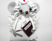 Nurse Felt Mouse felt gift mice for animal lovers and collectors from Warmth