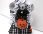 Halloween Carver Mouse one of the cute gift felt mice and ornaments for animal lovers and collectors by Warmth