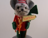 Santa Mouse - Ltd Edition felt mouse ornament by Warmth