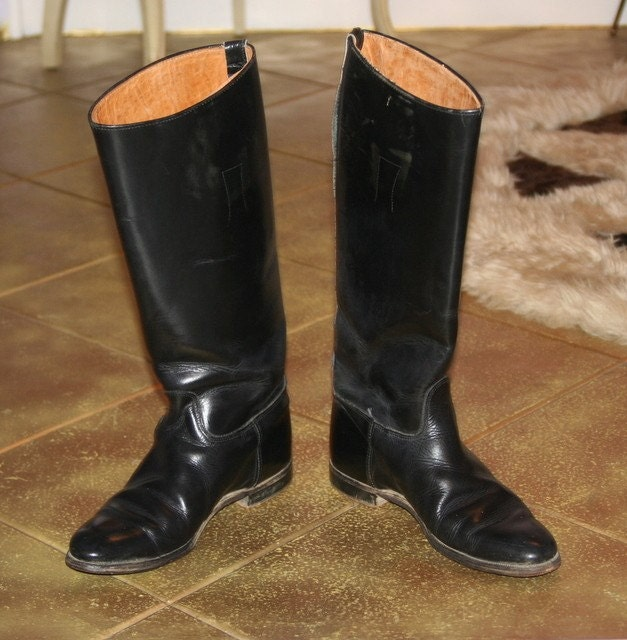 VINTAGE 50'S 60'S MILITARY RIDING BOOTS WOMEN'S