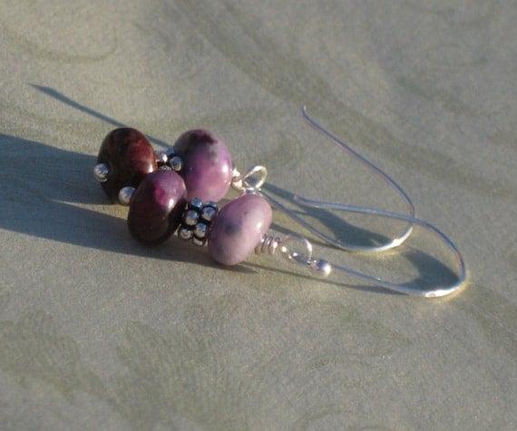 Sugary Sweet and Simple Sugilite Earrings, Sugilite Jasper Earrings, Purple Earrings