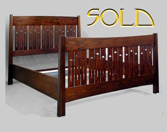 Mission, Arts and Crafts, Mackintosh, Queen Bed, Ash
