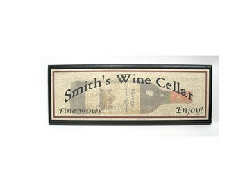 Personalized Wine Cellar Sign - Add Your Name