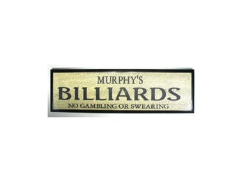 PERSONALIZED Billiards Sign - -Add any name