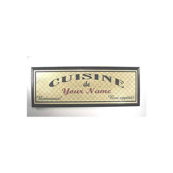 PERSONALIZED French Kitchen Sign