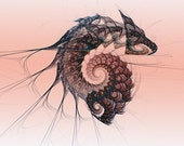 Enhanced Digital Art, Dragon,  Fractal Image Art