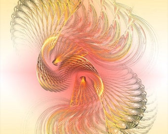 Fractal Spiral Digital Art Print, Fractal Image Art, Office Wall Art, 11x14 Giclee print, EBSQ