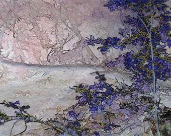 Fantasy enhanced Art, Landscape Wall Art, Giclee Print, soft colors