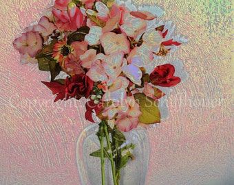 Floral Vase Digital Art Giclee Print, Wall Art Print, Still Life, 11x14 Fine Art Photography, EBSQ