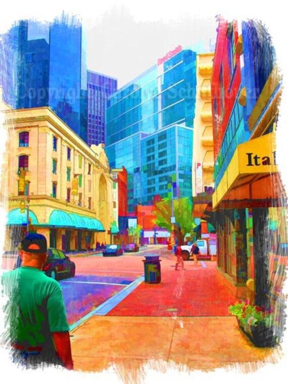 Pittsburgh, PA Fine Art Photography, Computer Enhance Photo, 12x17 Giclee Art PRINT,  Heinz Hall, EBSQ