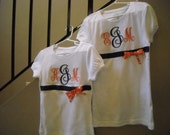 Custom Monogrammed Ribbon Tee Shirt