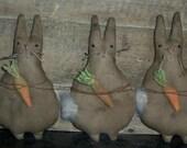 Rabbit 202e Bunny Primitive Easter Bowl Fillers, Ornaments, tucks Crows Roost Prims epattern  SALE immediate download