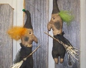 Halloween Mean Witch Primitive Ornament Crows Roost Prims 185E Epattern  SALE immediate download