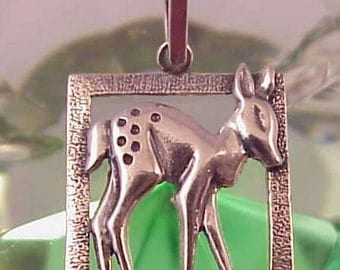 Sterling Silver Fawn Pendant
