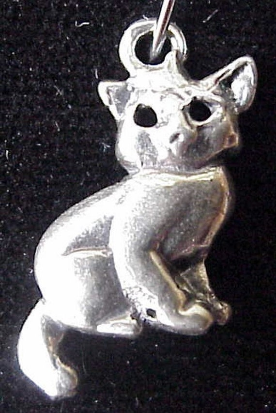 Sterling Silver Kitty Charm or Pendant