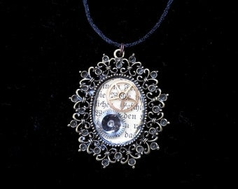 Oval Clockwork Pendant