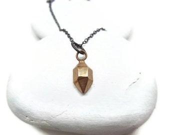 Cast Herkimer Diamond Necklace