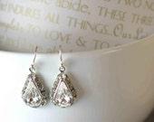 Glam Tear Drop Bridal Earrings