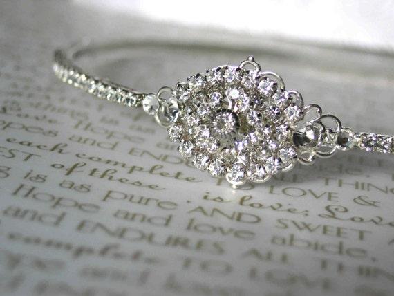 Bridal Crystal Headband, Bridal Hair Accessories, Vintage Glam Inspired, Swarovski Crystals