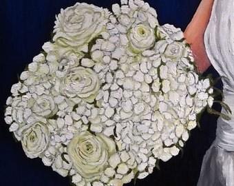 Bridal Bouquet Custom Portrait