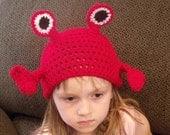 Mr Crab Beanie Skullcap Hat--cute photo prop-newborn through adult