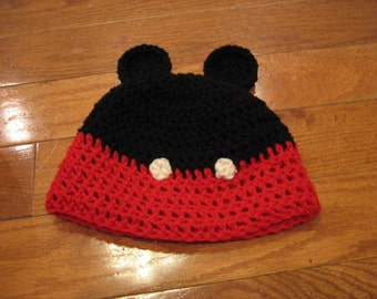 Mickey Mouse Ears Mickey Mouse Pants Beanie cute photo prop-all sizes newborn through adult