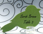 Bird Guest Cards Escort Cards Place Cards Blank - Pack of 12 - Choose Your Color in Plain, Pearl Shimmer, and Glitter Paper