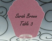 Cupcake Guest Cards Escort Cards Place Cards Blank - Pack of 12 - Choose Your Color in Plain, Pearl Shimmer, and Glitter Paper