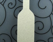 Wine Bottle Wish Tree Tag Blank - Pack of 8 - Choice of Color - for Wedding, Party, Birthday in Plain, Pearl Shimmer, and Glitter Paper